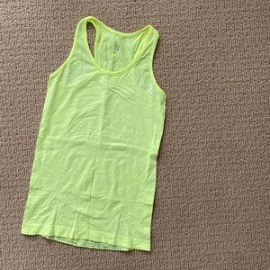 Sweaty Betty neon yellow workout tank small